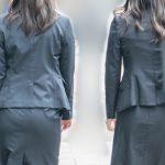 タイスカスーツがたまんない!豊満プリケツでエロいパンティ穿いてるOLさん!