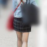 網タイツでエロさ倍増!のミニスカートが可愛いお嬢さん!