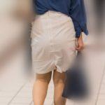 美尻のヒップラインがたまらん!白いタイトスカートのOLさん!