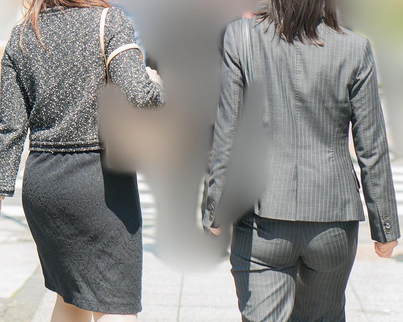 ちょい熟さんのパンツスーツ!が見事なデカ尻でプリプリの完熟!